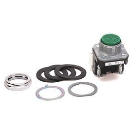 PUSH BUTTON FLUSH HEAD GREEN 30MM MOMENTARY NEMA 4/13 product photo
