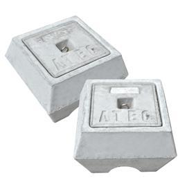 CONCRETE EARTH CHAMBER W/ALUM PLATE 282MM X 282MM X 195MM product photo