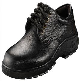 SAFETY SHOE LOW CUT WITH 4 METAL EYELETS BLACK product photo