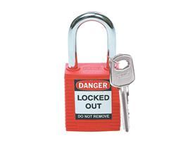 "SAFETY PADLOCK 1.5"" RED (3PCS/PKT) product photo"