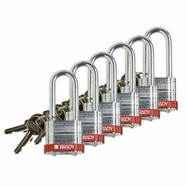 "LOCK STEEL 2"" RED 6/PK product photo"