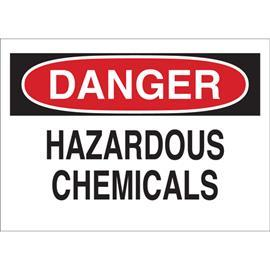 "CHEMICAL AND HAZARDOUS MATERIALS SIGN 10""X14"" RD/BK/WHT product photo"