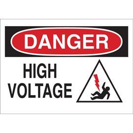 "B401 DANGER HIGH VOLTAGE 10""X14"" BLK/RD/WT product photo"