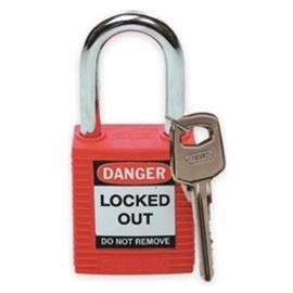 "SAFETY PADLOCK KEYED DIFFERENT 1.5"" SHACKLE SIZE RED (6PCS/PKT) product photo"