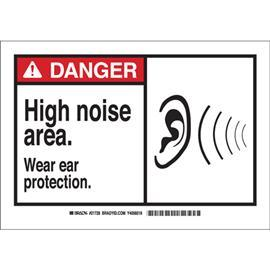 "ANSI Z535 SAFETY SIGN 7"" H X 10"" W BLACK/RED ON WHITE product photo"