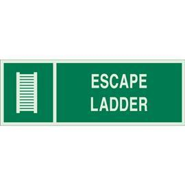 "BRADYGLO ESCAPE LADDER SIGN 5""X14"" GN/GLOW product photo"