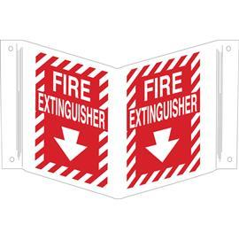 "B450 V FIRE EXTINGUISHER SIGN 12""X18"" WT/RD product photo"