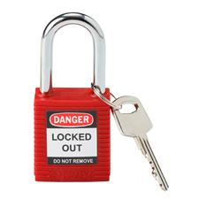 "SAFETY PADLOCK 1 3/4""X1 1/2""X4/5"" RED product photo"