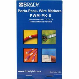 VINYL CLOTH PORTA-PACK WIRE MARKERS LEGEND: T1 T2 T3 product photo