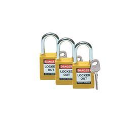 SAFETY PADLOCK KEY ALIKE GROUP MASTER KEY YELLOW product photo