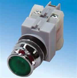 ILLUMINATED PUSHBUTTON SWITCH FLAT HEAD 22M 110VAC GREEN product photo