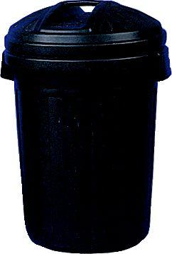 CAPACITY PLASTIC DUSTBIN C/W LID 80LTR product photo