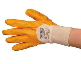 LIGHT WEIGHT NITRILE PROTECTION COAT GLOVE YELLOW SIZE 9 product photo