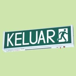 KELUAR SIGN WEATHER PROOF 30 X SUPER BRIGHT WHITE LED IP65 product photo