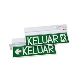 LED SLIMLINE KELUAR SIGN FTG SURFACE SINGLE SIDED W/BATTERY product photo