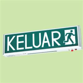 SMD LED SELF CONTAINED KELUAR SIGN SINGLE SIDED (SLIM) product photo