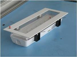 RECESS MOUNT 8 LED EMERGENCY LIGHT C/W 1 UNIT OF 3.6V 1AH product photo