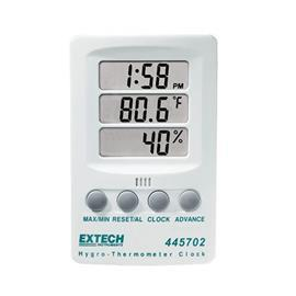 HYGRO-THERMOMETER WITH CLOCK product photo