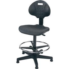 HIGH INDUSTRIAL PU CHAIR BLACK product photo
