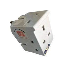 PLUG ADAPTOR 3X13A WHITE product photo