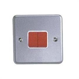 METALCLAD PLUS SP SWITCH WITH RED ROCKER 2G 2W 10AX product photo