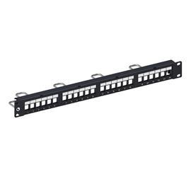 DDM PATCH PANEL, SL, UTP, 1U, 24 PORT (BLANK) product photo