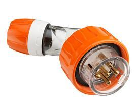 S56 ANGLED PLUG 250V 20A 3R IP66 ORANGE product photo