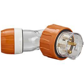 S56 ANGLED PLUG 500V 40A 4R IP66 ORANGE product photo