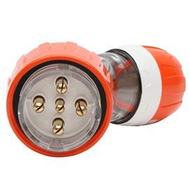 S56 ANGLED PLUG 500V 32A 5R IP66 ORANGE product photo