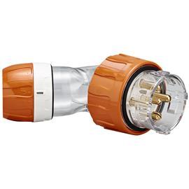 S56 ANGLED PLUG 500V 50A 5R IP66 ORANGE product photo