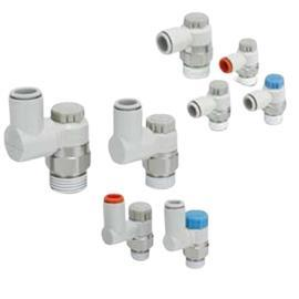AS SERIES SPEED CONTROLLER R 1/8 MALE INLET PORT X 3.2MM TUBE OUTLET PORT product photo