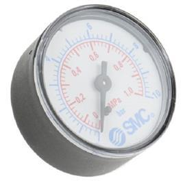 "ANALOGUE ""+"" PRESSURE GAUGE BACK ENTRY 1MPA G1/8 product photo"