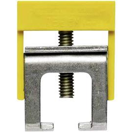 ZB 4K GE/GN CLAMPING YOKE FOR BUSBAR GREEN/YELLOW WITH COVER product photo
