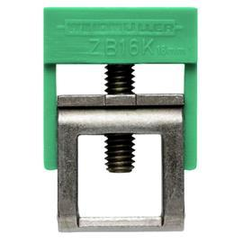 ZB 16K GE/GN ACC, CLAMPING YOKE FOR BUSBAR, GREEN/YEL product photo